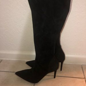 Alexander wang knee high boots